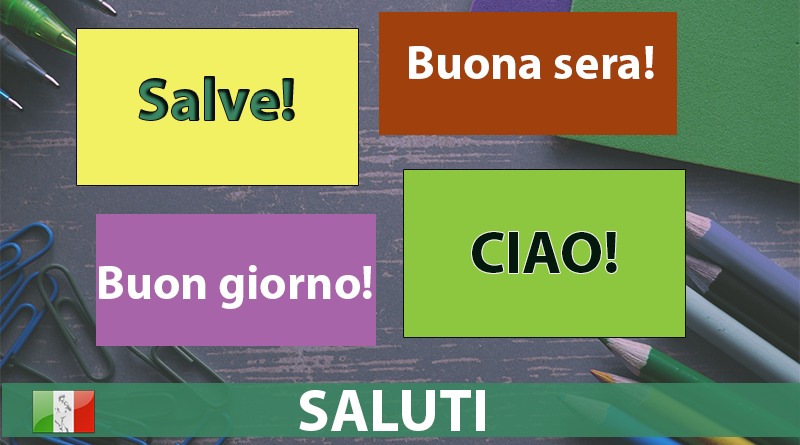 flashcards saluti