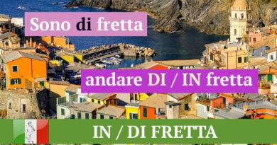 IN DI FRETTA - Итальянский язык ОНЛАЙН