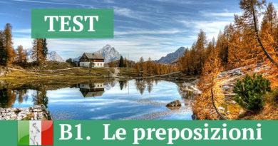 B1 — Preposizioni
