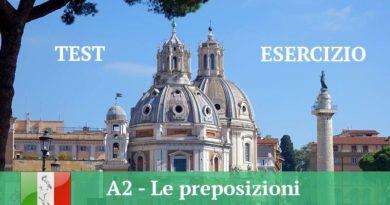 A2 le preposizioni